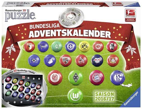 Calendrier Bundesliga 18 Puzzles 3d Calendrier De L Avent Bundesliga En