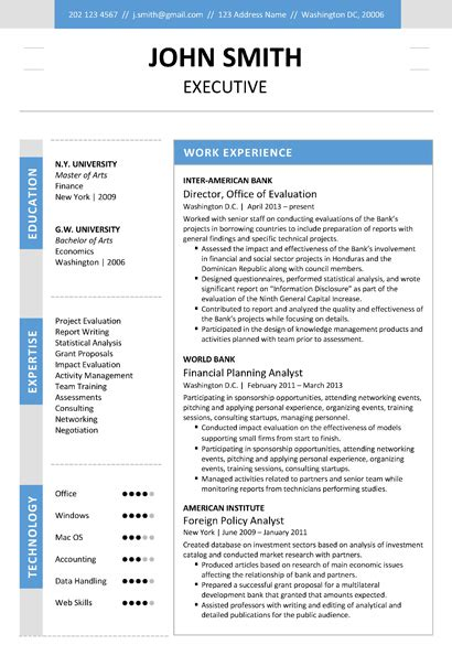 Executive Resume Templates by Executive Resume Template Trendy Resumes