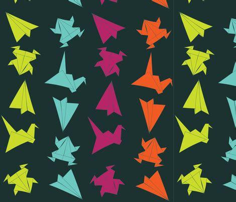 Sneakon Origami Navy origami multi navy fabric skonek spoonflower