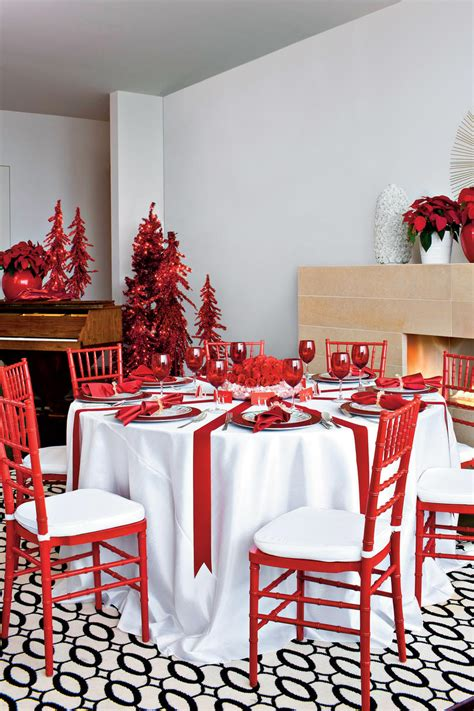 merry bright christmas table decorations southern living