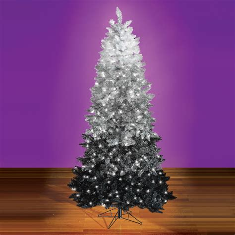the black ombr 233 christmas tree hammacher schlemmer