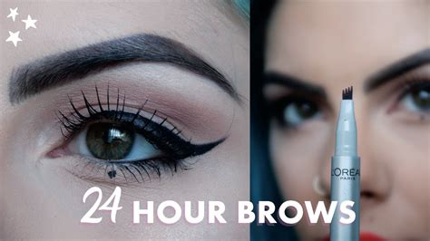 tattoo me 48 hour liner 24 hour brows with l oreal review ad youtube