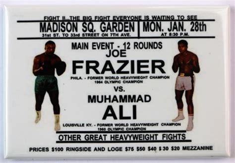 Kaos 2016 Mascot 3 Tx Oceanseven joe frazier vs muhammad ali square garden fridge magnet boxing fight