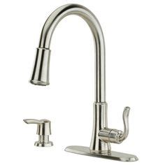 Pembersih Stainless Bailey Stainless Steel 236 peerless decatur stainless 1 handle pull kitchen faucet p88105lf sssd stainless kitchen