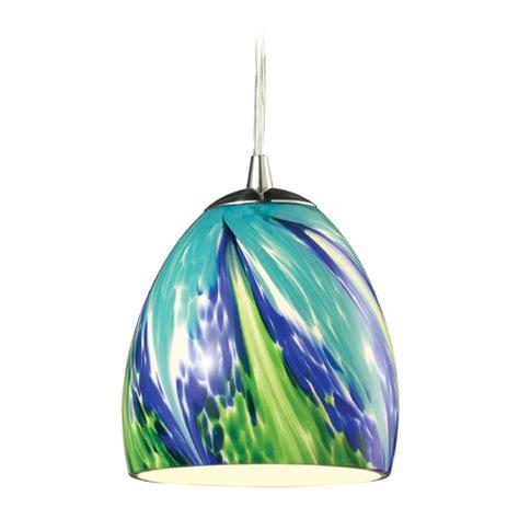 Led Mini Pendant Light With Blue Glass 31445 1tb Led Blue Mini Pendant Light