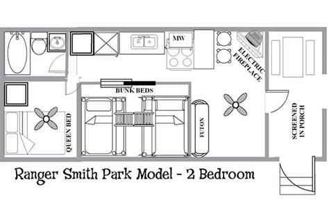 park model travel trailer floor plans ranger smith park model 2 bedroom yogi bear s