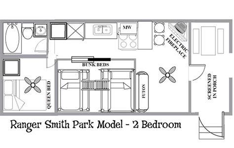 park trailers floor plans ranger smith park model 2 bedroom yogi bear s