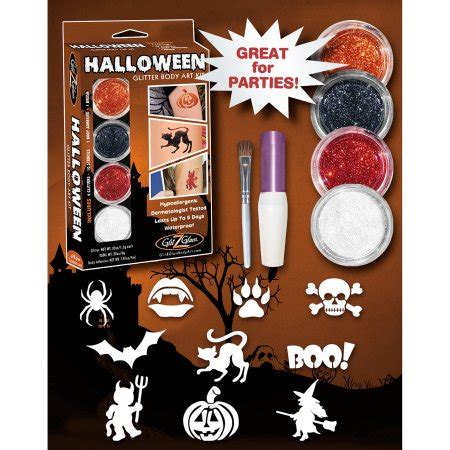 tattoo kit walmart glitzglam halloween glitter tattoo kit walmart com