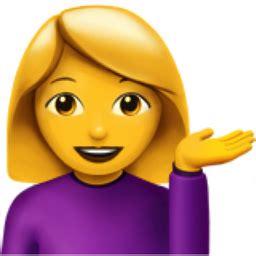 woman tipping hand emoji (u+1f481, u+200d, u+2640, u+fe0f)