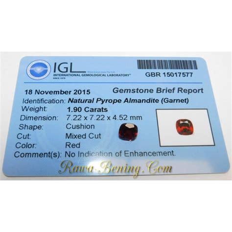 Batu Garnet Memo batu permata garnet merah kualitas bagus bentuk kotak 1
