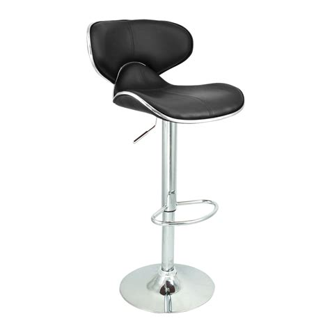modern black leather bar stools 6 swivel black bar stool pu leather modern