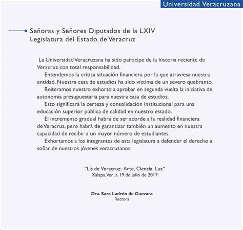 guia de la universidad veracruzana 2017 a la lxiv legislatura facultad de biolog 237 a xalapa