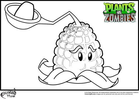 plants vs zombies kernel pult coloring pages jpg 980 215 700