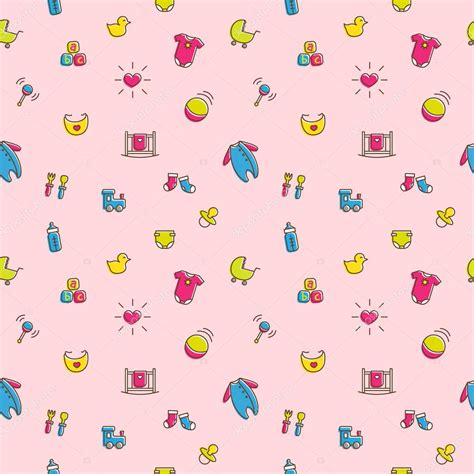 colorful baby vector colorful baby and pregnancy seamless pattern in