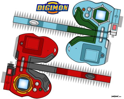 Digimon Digivice Papercraft - paper digivices favourites by jackthegriffin on deviantart