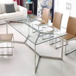 Steel Dining Table And Chairs 25 Best Ideas About Glass Dining Table On Glass Dining Room Table Glass Table And