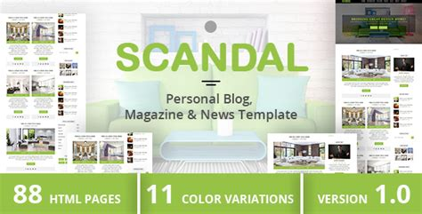 scandal personal blog magazine news template free