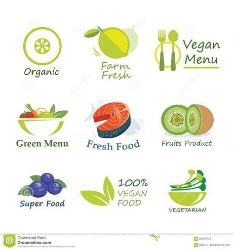 food label design eps healthy organic food label flat design stock vector