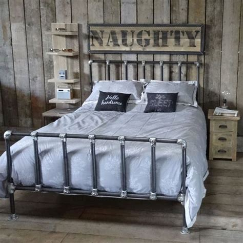 Lowes Bedroom Furniture Best 25 Pipe Bed Ideas On Pinterest Industrial Bed