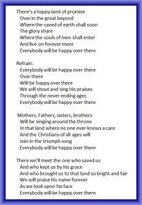 lyrics bad quartet everybody will be happy there southern gospel on