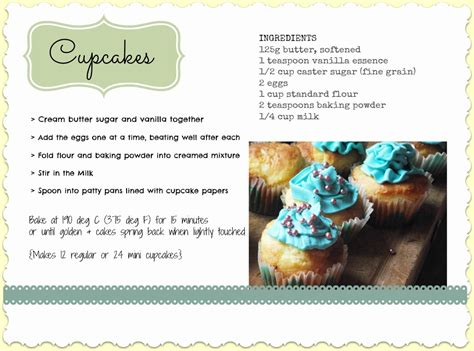 printable recipes for cupcakes great fun etc endless cupcakes to introduce my new party