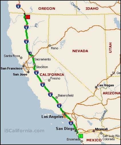 map of interstate 5 through oregon interstate 5 california distance map images frompo
