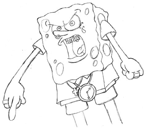 ghetto spongebob coloring page ghetto girl coloring pages