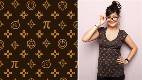 lv pattern shirt chic louis vuitton for geeks tee