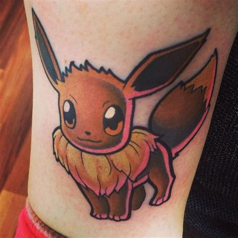 pokemon tattoo my new eevee just like a i ll