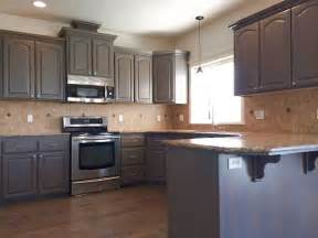 Stain Kitchen Cabinets Gray Stained Kitchen Cabinets Traditional Kitchen Boise By Revive Cabinetry