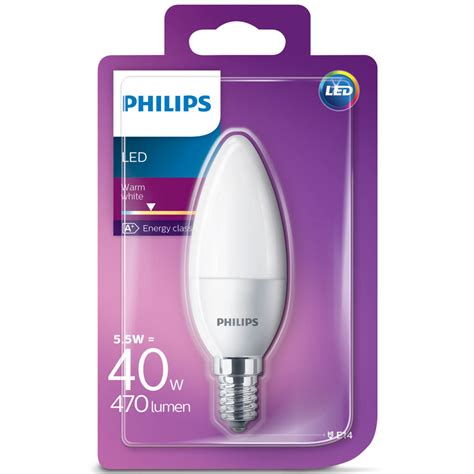 Lu Philips Led 40 Watt Philips Led E14 40w Candle Light Bulb Lighting Bulbs Led