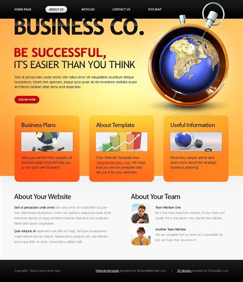 Free Website Template Business Company Website Templates For Business