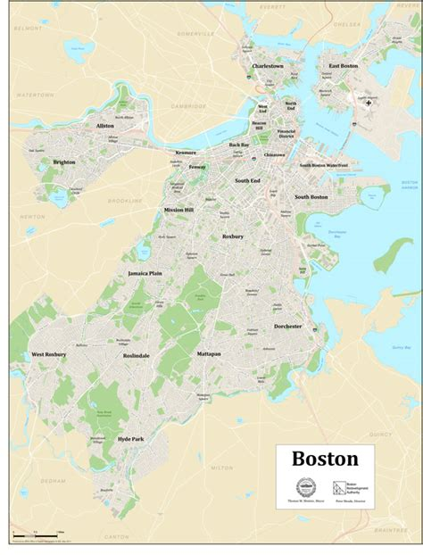 boston map neighborhoods citywide maps boston planning development agency