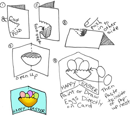 pop up easter card template free easter crafts for for easy arts