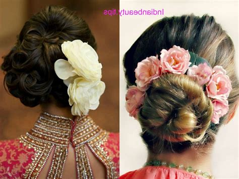 Hairstyles Accessories Bun Tips by Indian Wedding Bun Hairstyles With Flowers Hairstyles