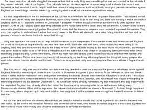 Ap Us History Essay Exles by Ap Us History Dbq Exles