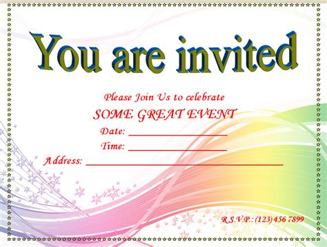 printable blank invitation templates free invitation
