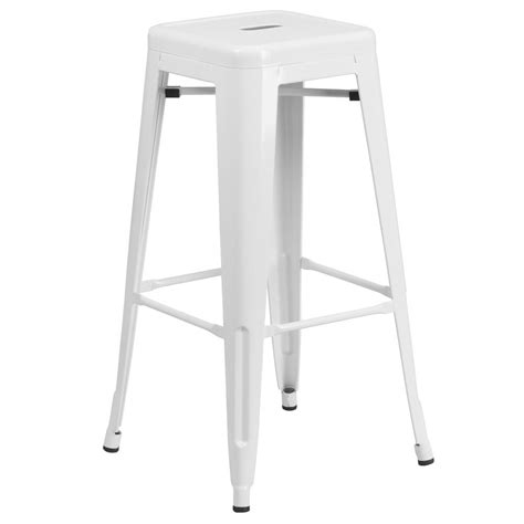 Furniture White Bar Stools by Flash Furniture 30 In White Bar Stool Ch3132030wh The