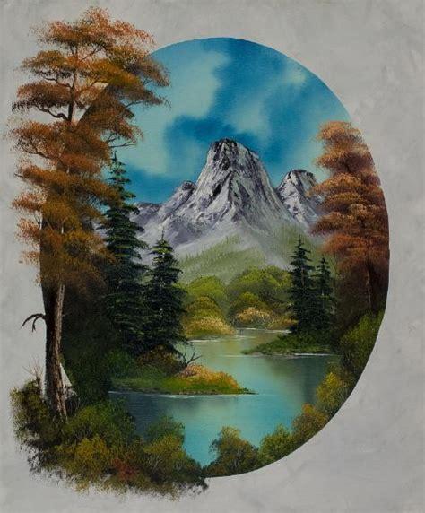 bob ross painting poster early autumn painting bob ross early autumn paintings