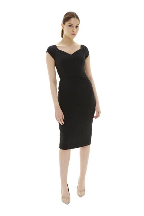 Dress Monaco the pretty dress company monaco luxe crepe pencil dress