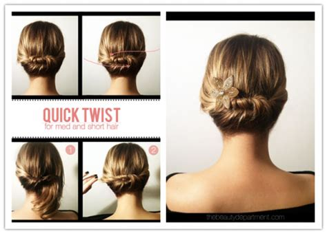 easy updos for medium hair with directions diy updos for short hair hair style and color for woman