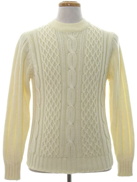 mens white cable knit sweater supreme 70 s vintage sweater 70s supreme mens winter