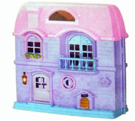 portable doll house other toys last little mimi pink house portable dollhouse with music 7