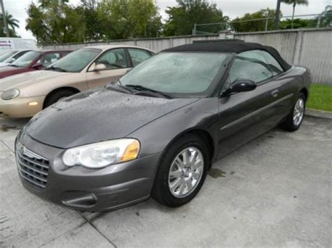 2004 chrysler convertible 2004 chrysler sebring touring convertible data info and