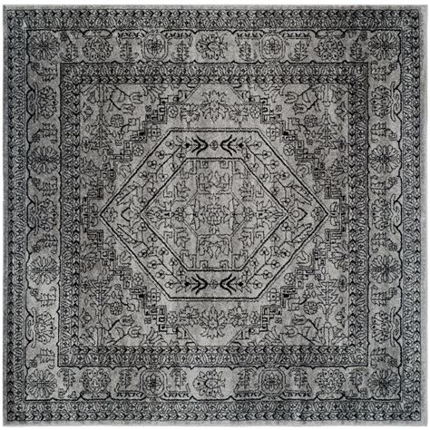8 x 8 square area rugs safavieh adirondack silver black 8 ft x 8 ft square area rug adr108a 8sq the home depot