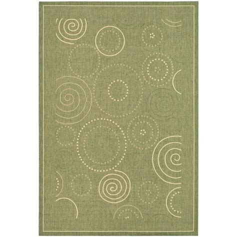 Safavieh Courtyard Olive Natural 4 Ft X 5 Ft 7 In 4 X 5 Outdoor Rug