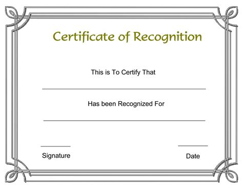 certificate of achievement template word audit sle