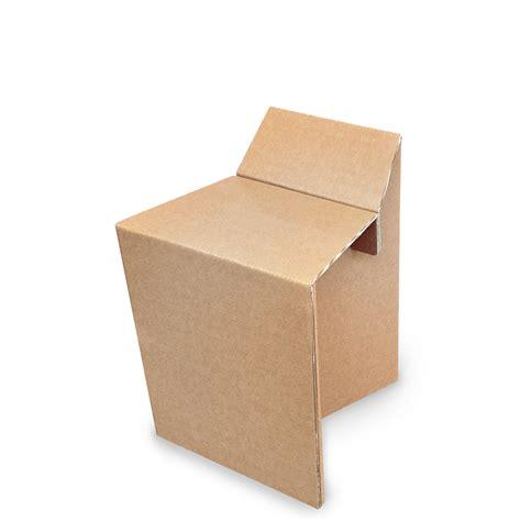 sedia di cartone linea gaia sgabello in cartone gaia