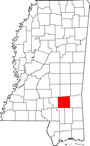 Jones County Ms Records File Map Of Mississippi Highlighting Jones County Svg