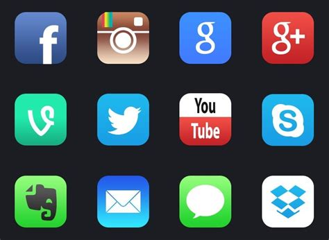 Home Design Software For The Ipad by Free 12 New Ios 7 Style Social Media App Icons Titanui